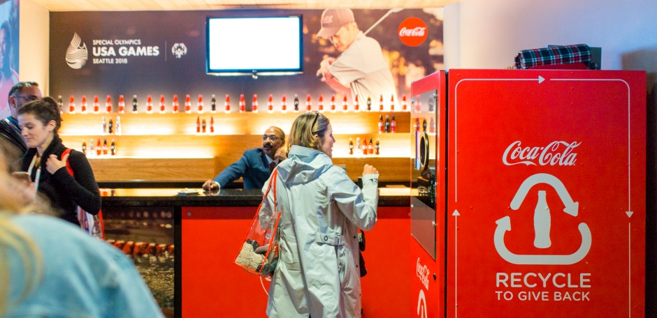 COCA COLA Branded Reverse Vending Machines