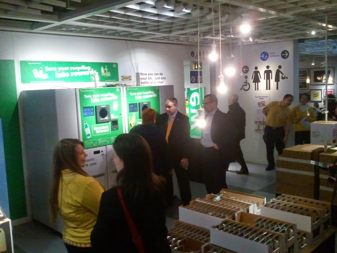 2013 Opening the Zero Waste Scotland Reverse Vending pilot at IKEA Edinburgh