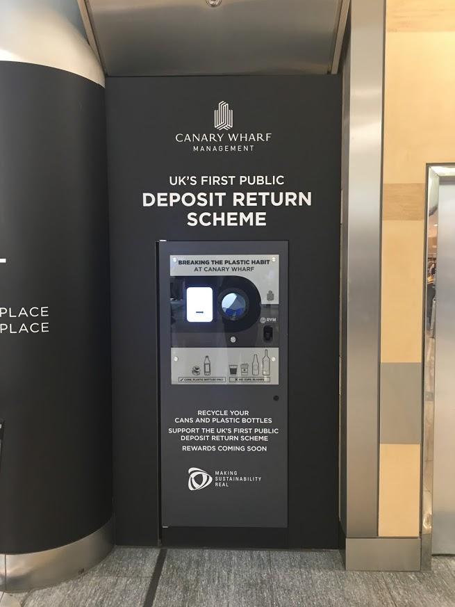 Canary Wharf Branded Reverse Vending Machine