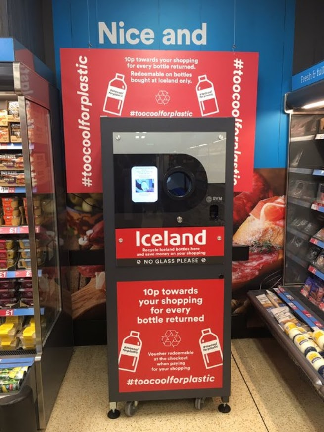 Iceland Foods First Reverse Vending in store in Scotland