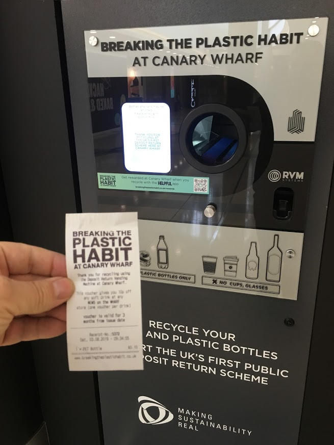 Canary Wharf London First Public Deposit Return in the UK