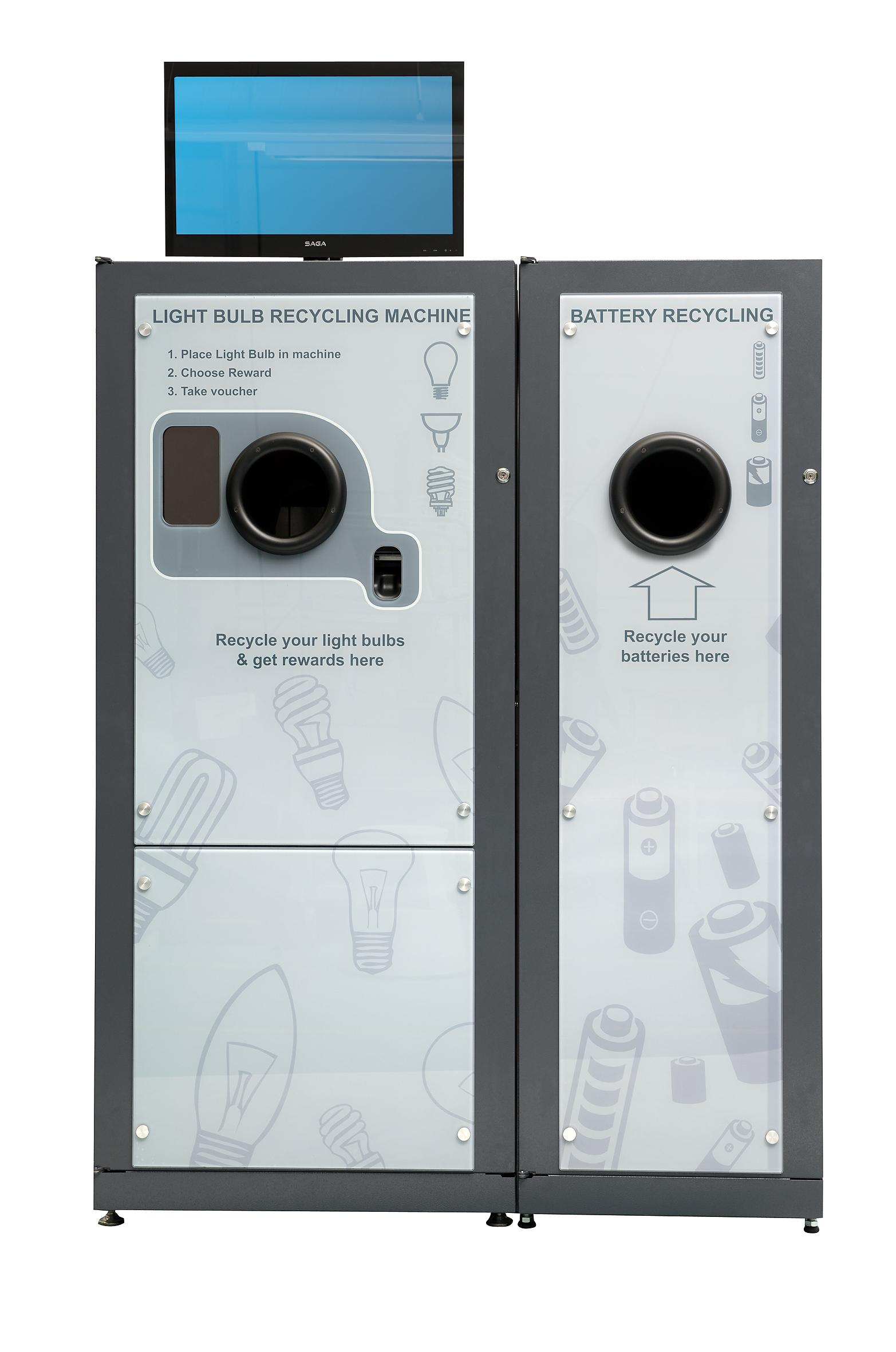 The reVend Light Bulb Recycling Reverse Vending machine