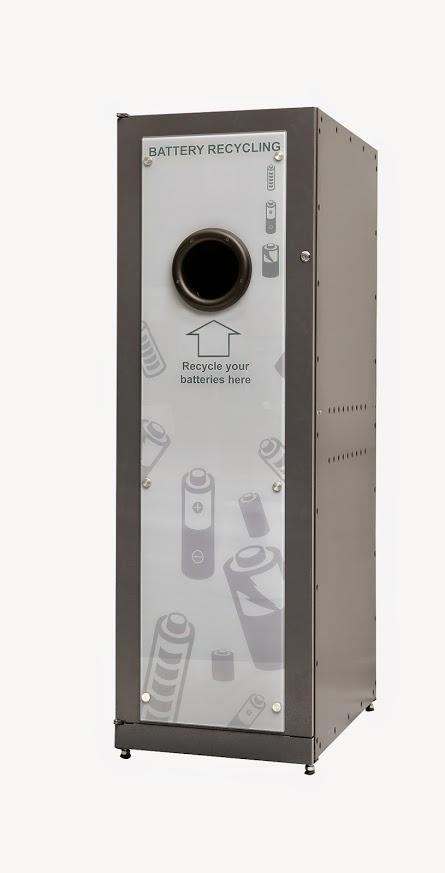 reVend Light Bulb Recycling Reverse Vending Machine add on housing for portable batteries