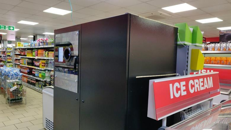 Family Shopper mo razzaq blantyre installed the First All in Reverse Vending Machine in the UK