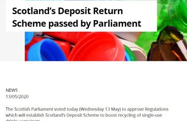 Scotland's Deposit Return Scheme passed by Parliament
