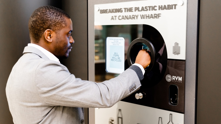 Canary Wharf launches the first UK on-site Deposit Return Scheme