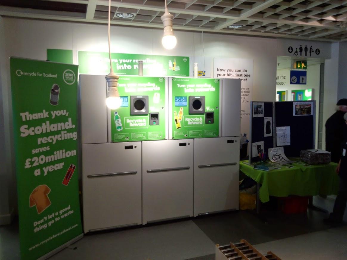 Reverse Vending at IKEA Glasgow Zero Waste Scotland funded pilot