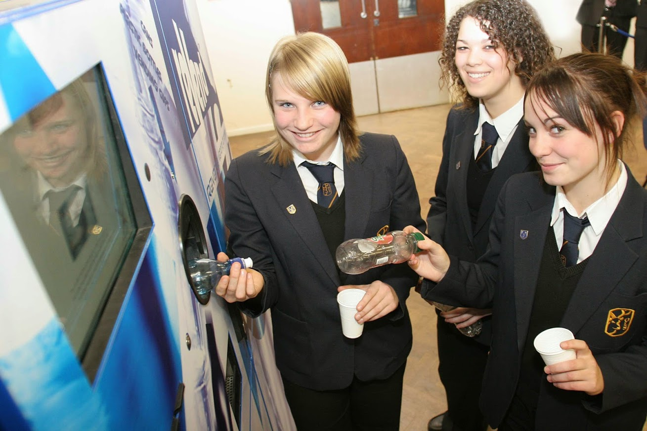 24 May 2006, source LAWR A reverse vending machine that recycles used beverage containers has proved an instant hit with students in Peterborough, resulting in significant waste savings for the school A recycling reverse vending machine that rewards users for recycling used empty cans, plastic bottles and cups has achieved a 98% recycling rate in less than two months at a comprehensive school in Peterborough. Orton Longueville School, which houses over 1,220 students from the ages of 11 to 18, implemented the 'reVend' reverse vending machine (RVM) from Reverse Vending Corporation in a bid to prevent litter and reduce waste on its premises.