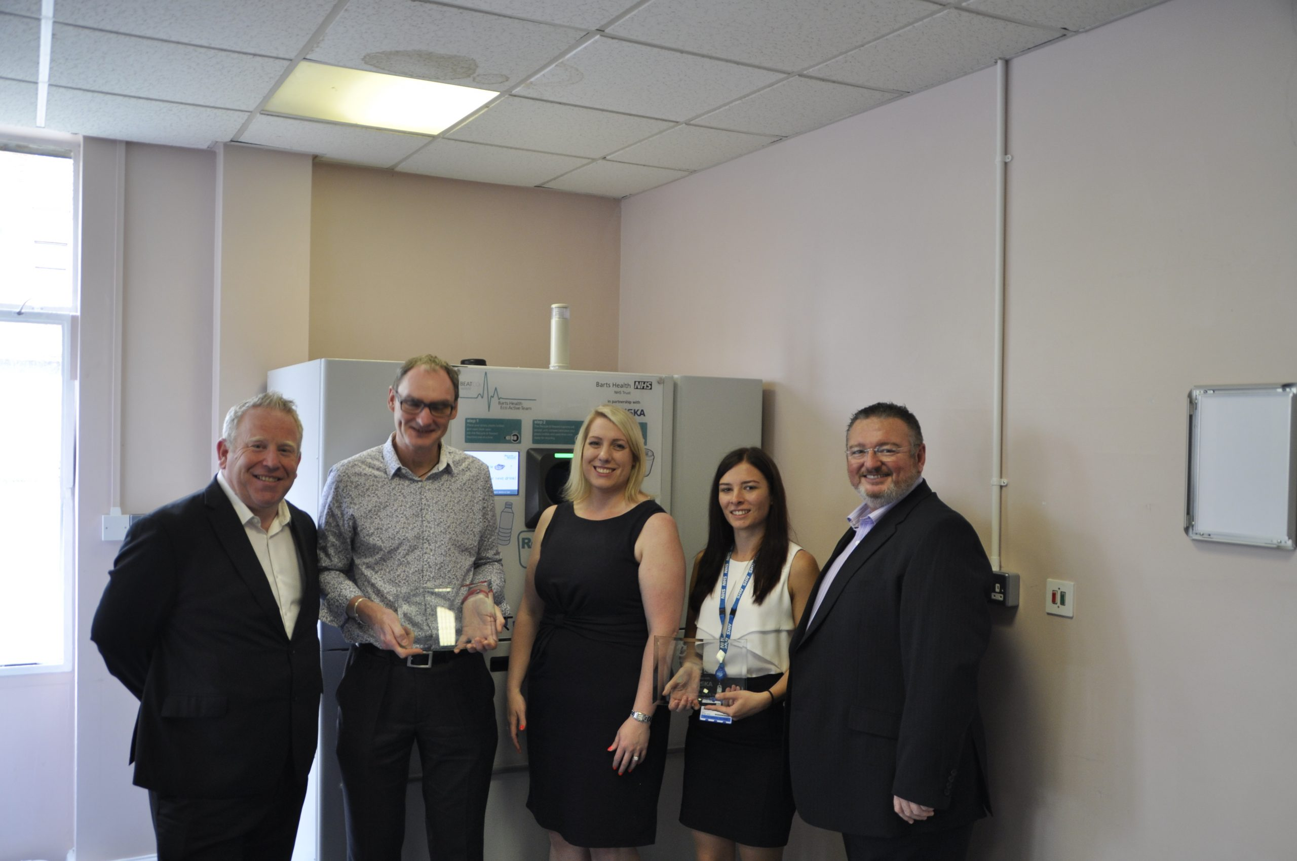 Barts NHS Trust Reverse Vending Award First NHS Trust Hospital in the UK to install a Reverse Vending Machine