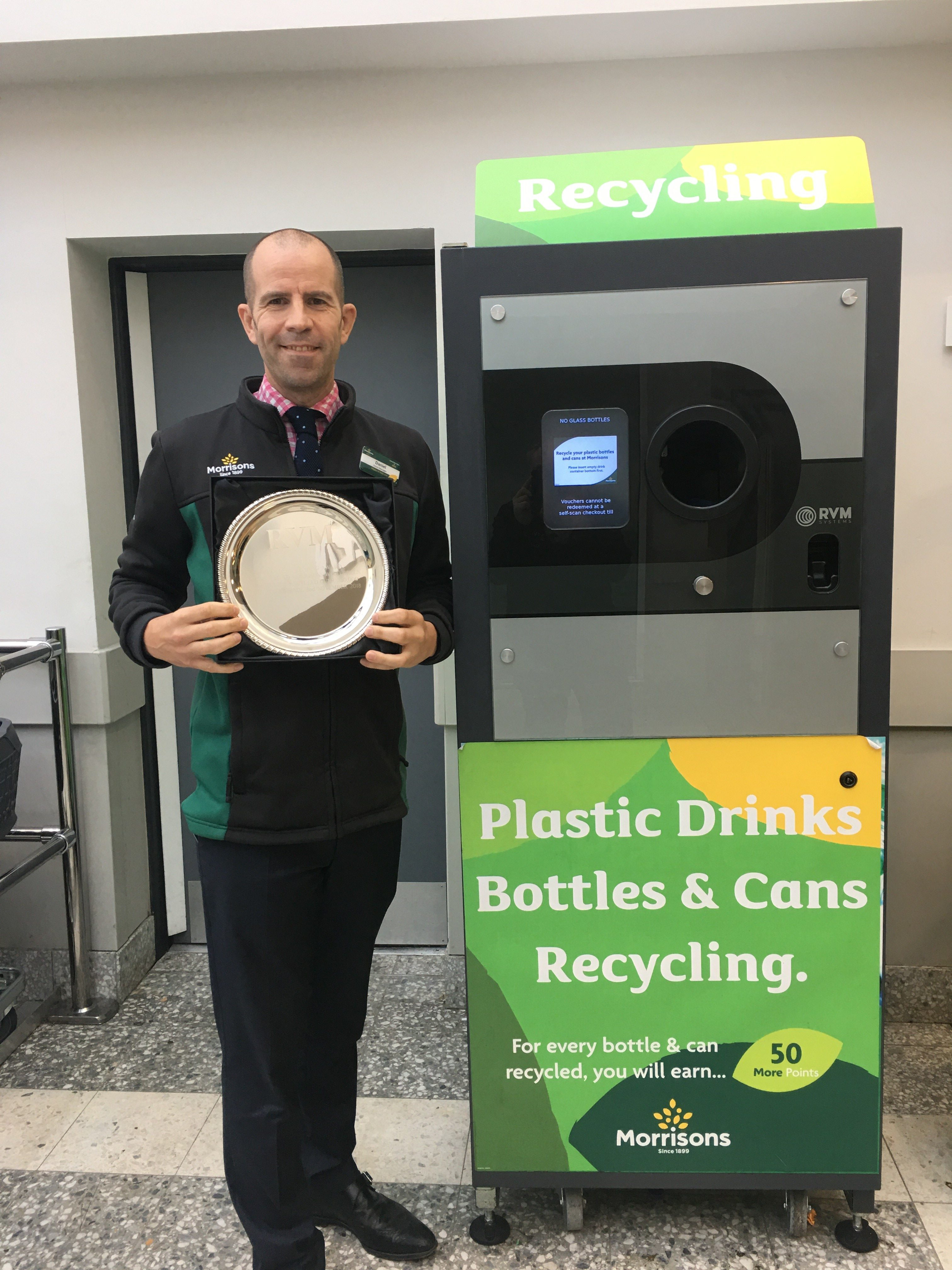 On the 2nd of November 2018 we installed a RVM Systems Reverse Vending Machine at Morrisons Wood Green - London