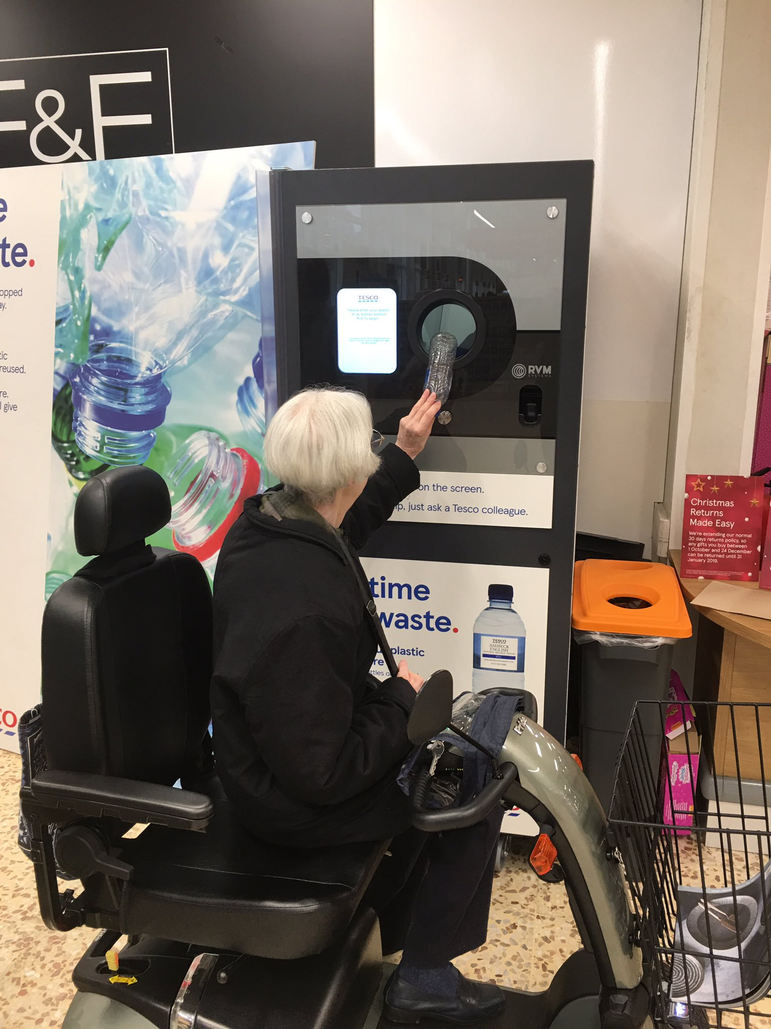Tesco Borehamwood this was the very First Reverse Vending Machine installed in-store by Tesco
