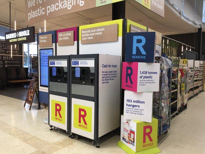 Tesco Branded Reverse Vending Machine
