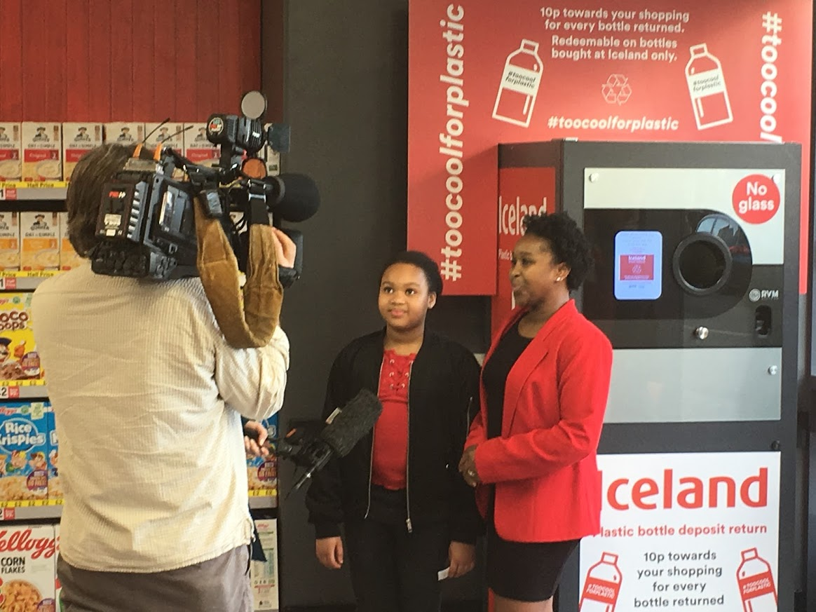 TV News Crew at Iceland Foods Store Fulham