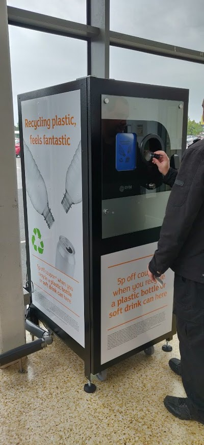 Richard using the Reverse Vending at Sainsburys Lincoln