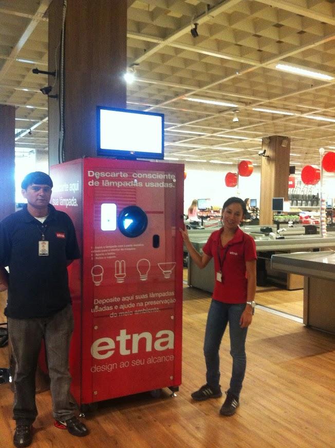 September 2013 Brazil Light Bulb Reverse Vending installation at ETNA