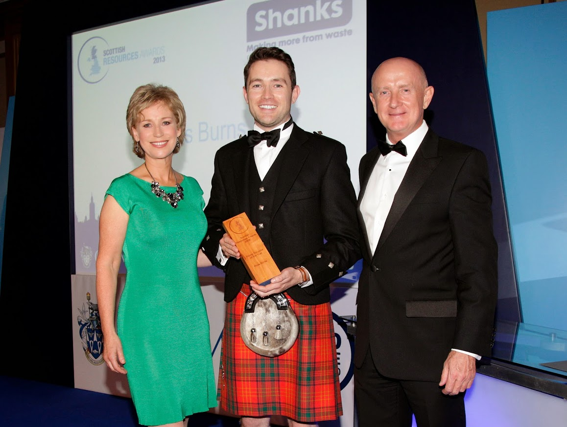 """The IKEA """"Recycle and Reward"""" project was an Award Winning Project Ross Burns a Project Manager from Zero Waste Scotland – was voted as the winner of the """"Young Recycler of The Year"""" 2013"""